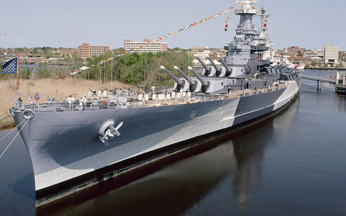 Battleship USS North Carolina